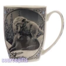 NEW SNOW KISSES WOLF WOLVES LISA PARKER BOXED MUG CUP FREE POSTAGE