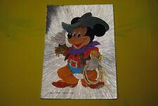cp carte postale vintage  année 70 walt disney : mickey mouse cowboy