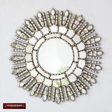 """Peru Silver Decorative Mirror 17.7""""- Home Decor - Sunburst Mirrors Cuzco style"""