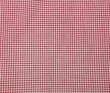 PREMIER PRINTS LANCASTER LIPSTICK RED PICNIC PLAID FURNITURE FABRIC BY THE YARD