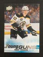 Trent Frederic 2019-20 UD Series 2 Young Guns #472  Boston Bruins RC