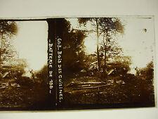 plaque photo guerre 14-18 bois des cuisines batterie de 155 canon soldats WWI