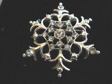 Snowflake Pin Gorgeous Crystal Studded
