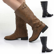 Women's Synthetic Leather Riding, Equestrian Block Boots