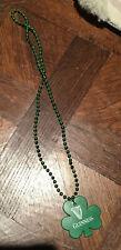 Mardi Gras Beads Necklace GUINNESS Shamrock Green Clover St Patrick's Day - NEW
