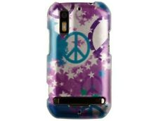 Hard Plastic Protector Case Cover with Star & Peace Design for Motorola Photon