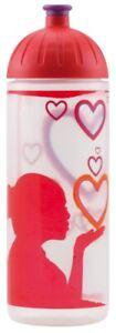 ISYbe Schul-Trinkflasche, Love 0,7L, BPA-frei, auslaufsicher, Kohlensäure geeign