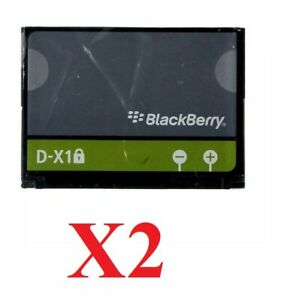 LOT OF 2 OEM BLACKBERRY (D-X1) BATTERIES FOR 8900 9500 Storm 9530 Tour 9630