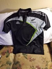 New Zealnd All Blacks Polo Shirt - Medium - Adidas - Rugby