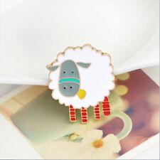 Cartoon White Sheep Animal Enamel Brooch Pin Collar Badge Fashion Jewelry Gift