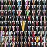 HOT  Mens Stripe Paisley Floral Checks Necktie JACQUARD WOVEN 100% Silk Tie