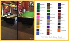 Pool table and snooker table recovering