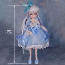 1/4 Ball Jointed BJD Dolls Pretty Girl + Makeup + Dress + Replaceable Eyes + Wig