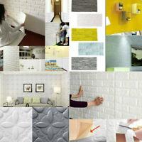 3D Brick DIY Self Adhesive Panels Wall Stickers Home Decor Embossed PE Foam