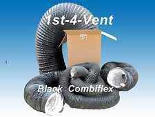 160mm  6mtr COMBIFLEX, COMBI FLEX, FLEXIBLE DUCTING/BLACK EXTRACT HOSE for Fans