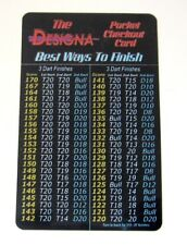 Darts Peg Out / Check Out Card