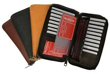 Genuine Leather Checkbook Wallet Credit Card ID Zip Around Organizer Men Women