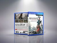 Assassin's Creed III: Liberation - PlayStation Vita Cover and Case. NO GAME!!