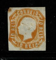 Portugal SC# 13, Mint Hinged, 70% Orig Gum, toned, minor embossing tears - S4811
