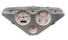 1955 1956 1957 1958 1959 Chevy Truck 3 Gauge Dash Panel Insert White Fits 1958 Chevrolet Truck