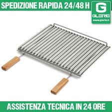 PIEDI GRIGLIA PIASTRA  BISTECCHIERA bio INOX SUNDAY GRILL barbecue 60-67