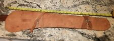 """Vtg Real Leather Firearm BB/Pop/Toy Rifle Gun Case/Pouch 28"""" Carry/Sling Straps"""