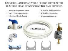 American Fridge Freezer Water Filter Connection Plumbing Kit inc 10M of Tubing