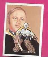 1987 HALL OF FAME BRUINS GERRY CHEEVERS GOALIE ELECTED 1985 NRMT-MT (INV# A8027)
