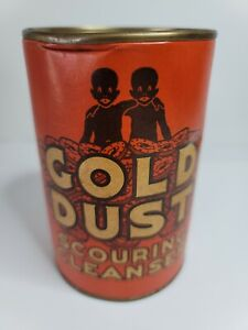 Vintage 1930s FAIRBANKS GOLD DUST Scouring Powder 14 Oz. Tin Advertising Antique