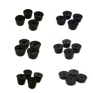 4 x Round Hifi Black Rubber Instrument Case Feet Foot Circular  6 Sizes