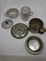 Metal VTG/Primative Farmhouse Kitchen: Cups-Shaker-Lids-Tart Pan -  Lot of  6