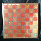 HONEST ANTIQUE PRIMITIVE PAINTED CHECKERBOARD GAME BOARD IN NICE OLD PAINT