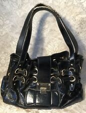 AUTHENTIC JIMMY CHOO RAMONA BLACK  PATENT HANDBAG WITH AUTHENTICITY CARD