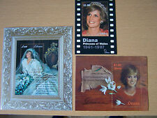 LIBERIA  3 X DIANA U/MINT M/SHEETS.EXCELLENT LOT..