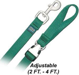 4' Pet Leash w/ Satin Metal Hardware Dog Leash - Medium - by Cetacea - PTL34QR4S