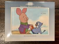 PIGLET CEL ART and DRAWING Walt Disney's Winnie The Pooh TV Production Fiedler