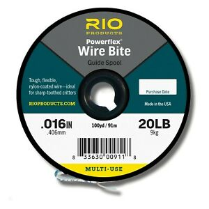 Rio Powerflex Wire Bite Pike Fly Leader Tippet Material