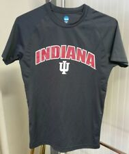 NCAA Indiana IU Hoosiers Front Logo Gray T-Shirt by KA Inc Men's Small Polyester