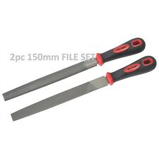 2pc 150mm File Set Tools Metal Sharpen Sharping Includes flat & half round files