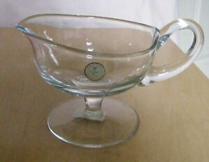 Crystal Clear Hand Crafted Gravy Boat Made in Romania