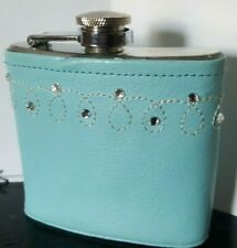 New listing Baby Blue Bedazzled Stainless Steel Flask for Ladies