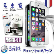 LOT 2 VITRES FILM DE PROTECTION IPHONE 5S/SE/6/7 VERRE TREMPE D'ÉCRAN iPhone