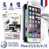 2 VITRES FILM PROTECTION IPHONE 5,5C,5S,SE,6,7 VERRE TREMPE ECRAN iPhone 7