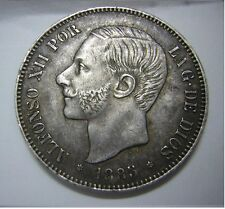 5 pesetas 1885. *18*85* MS M. Madrid. SC -