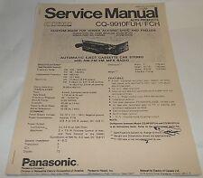 Panasonic Honda Accord Civic AM-FM Cassette Analog Radio Service Manual CQ-9910