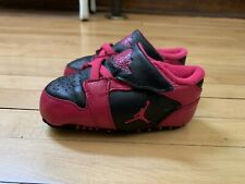 Nike Air Jordan Retro Infant Baby Girls Pink Black Crib Shoes size 4 C