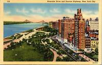 New York City NY Riverside Drive Express Highway Postcard used 1942