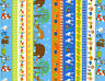 Woodland Animals Stripes Timeless Treasures Multi 100% cotton Fabric by the yard