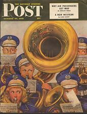 OCT 19 1946 SATURDAY EVENING POST  magazine ( COVER ONLY ) -- MUSICAL INSTRUMENT