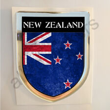 New Zealand Sticker Resin Domed Stickers Flag Grunge 3D Adhesive Gel Decal Car